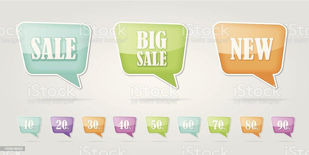 text bubble SALE royalty-free stock vector art