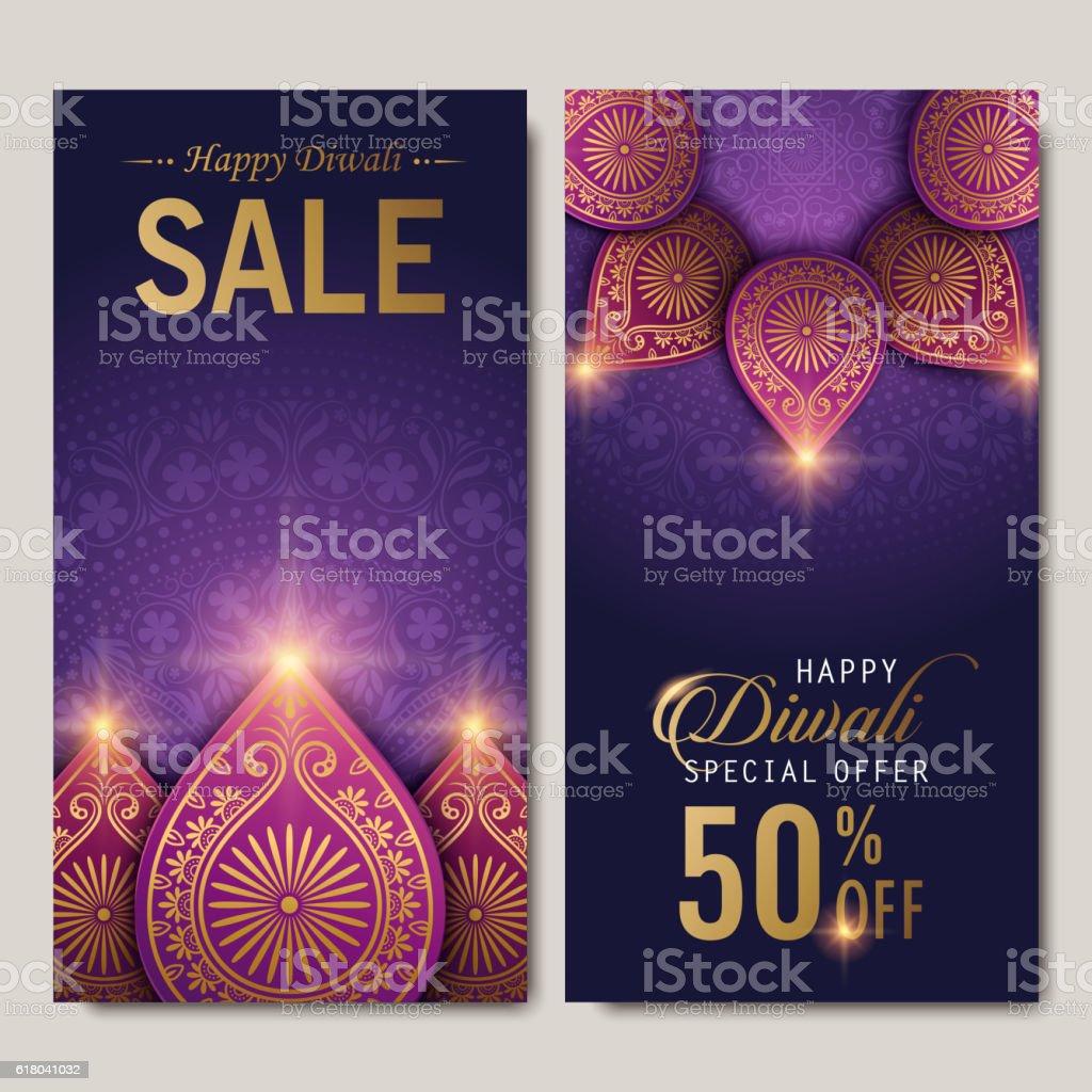 text happy diwali special offer vector art illustration