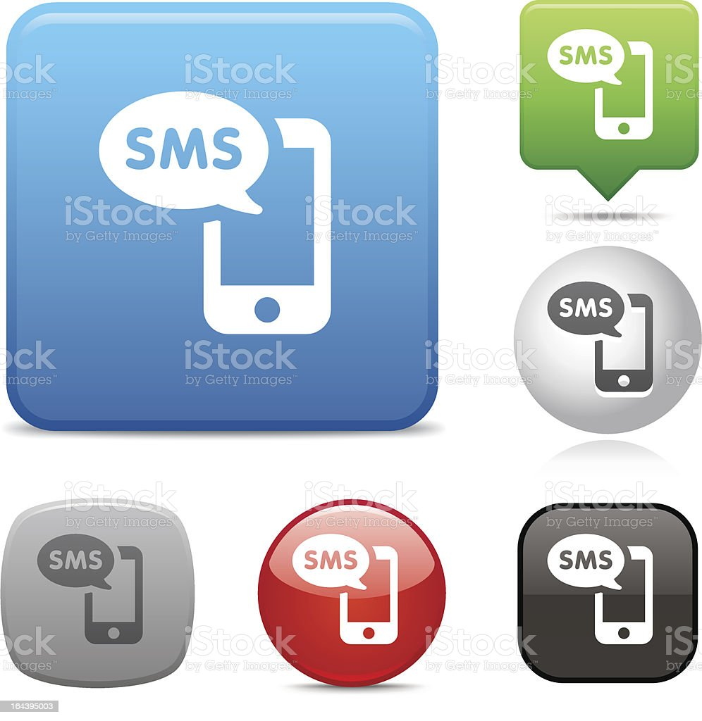 Text Message icon vector art illustration