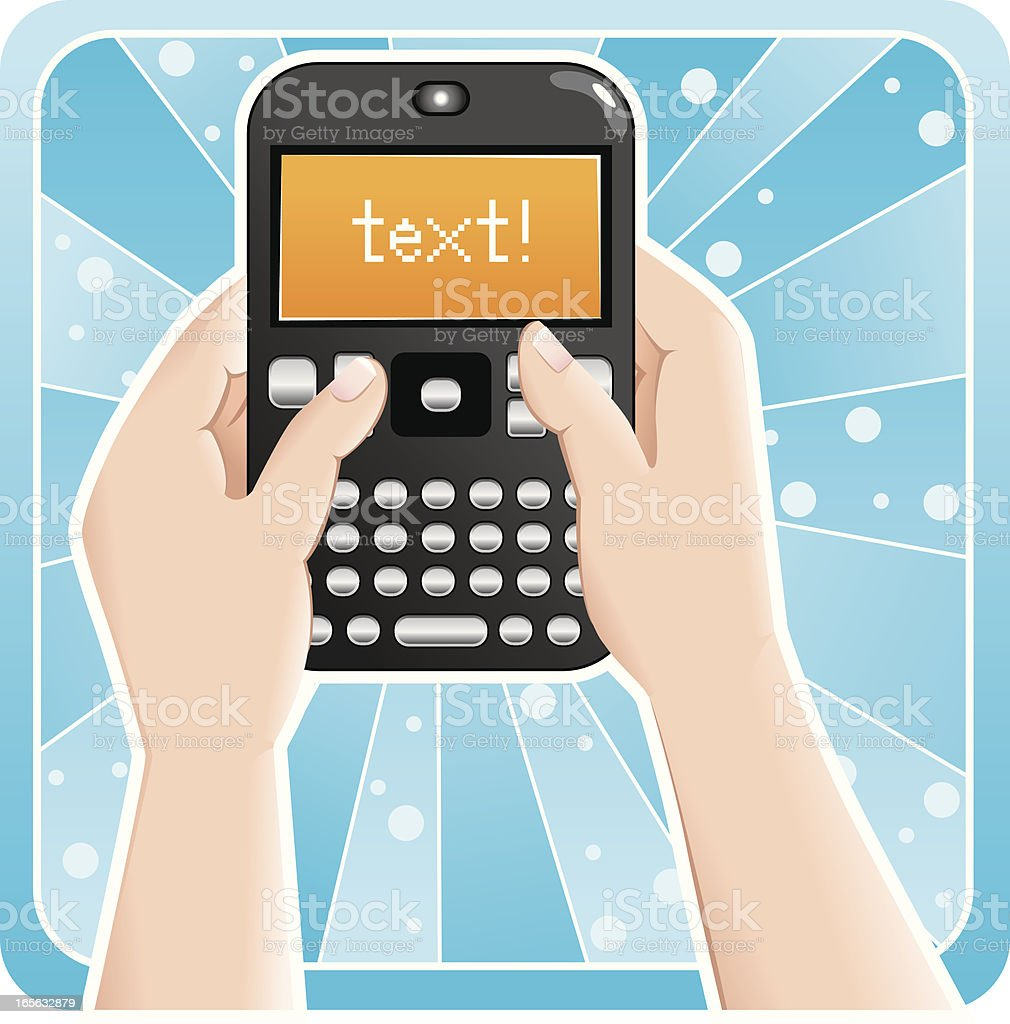 Text Messaging royalty-free stock vector art