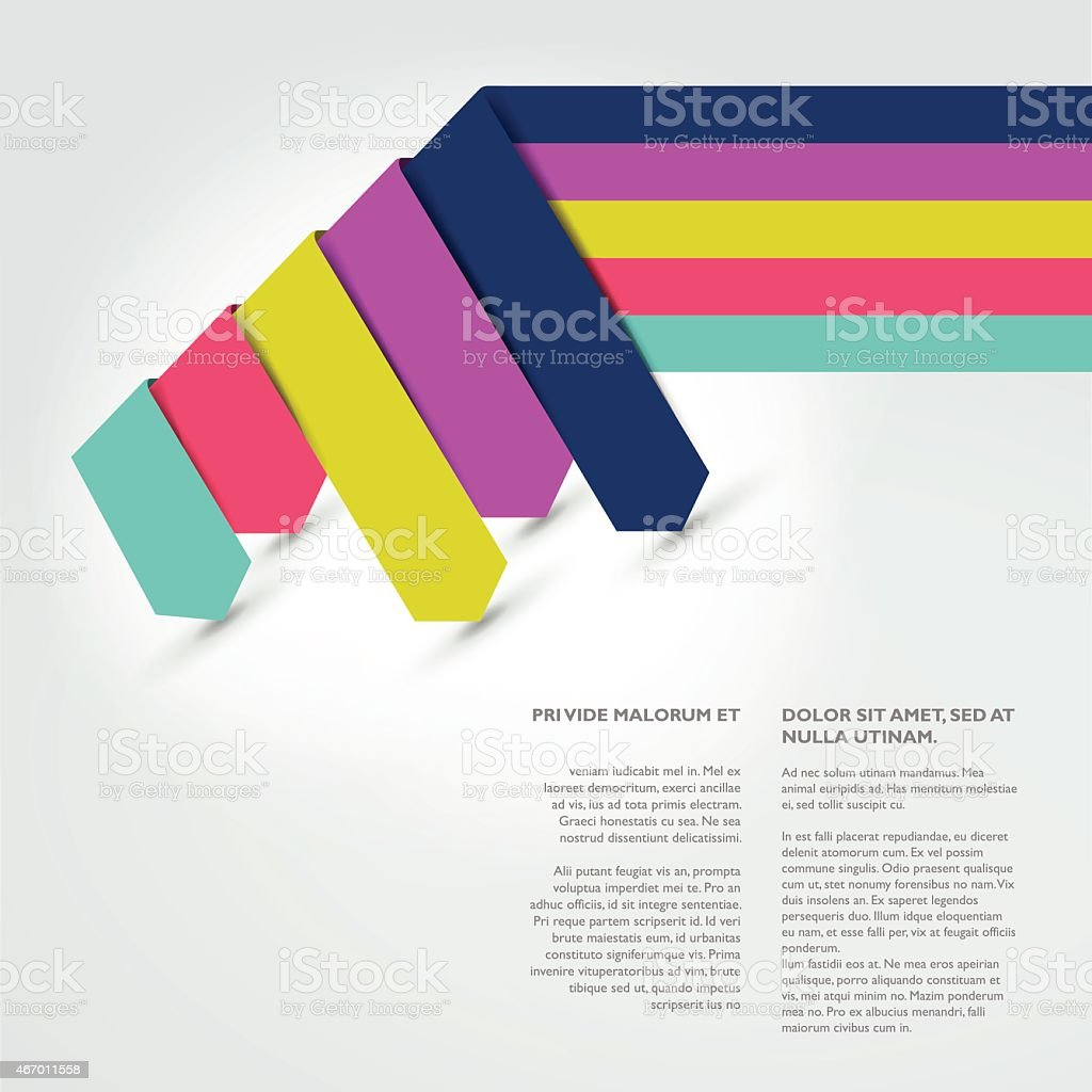 text page template brochure flyer annual report cover stock vector 1 credit