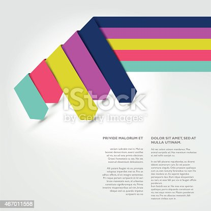 Text Page Template Brochure Flyer Annual Report Cover stock vector – Annual Report Cover Page Template