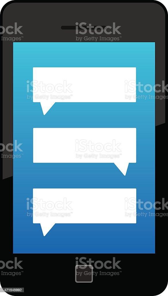 Text Smart Phone vector art illustration