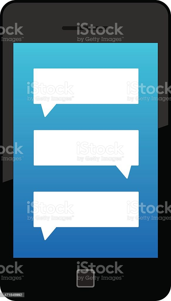 Text Smart Phone vector art illustration