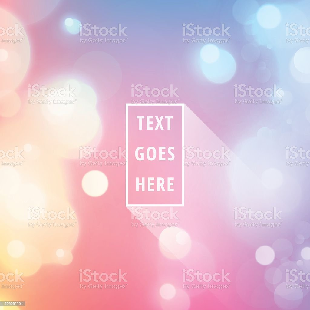 Text Space Frame Light Flare Bokeh Vector Stock Background vector art illustration