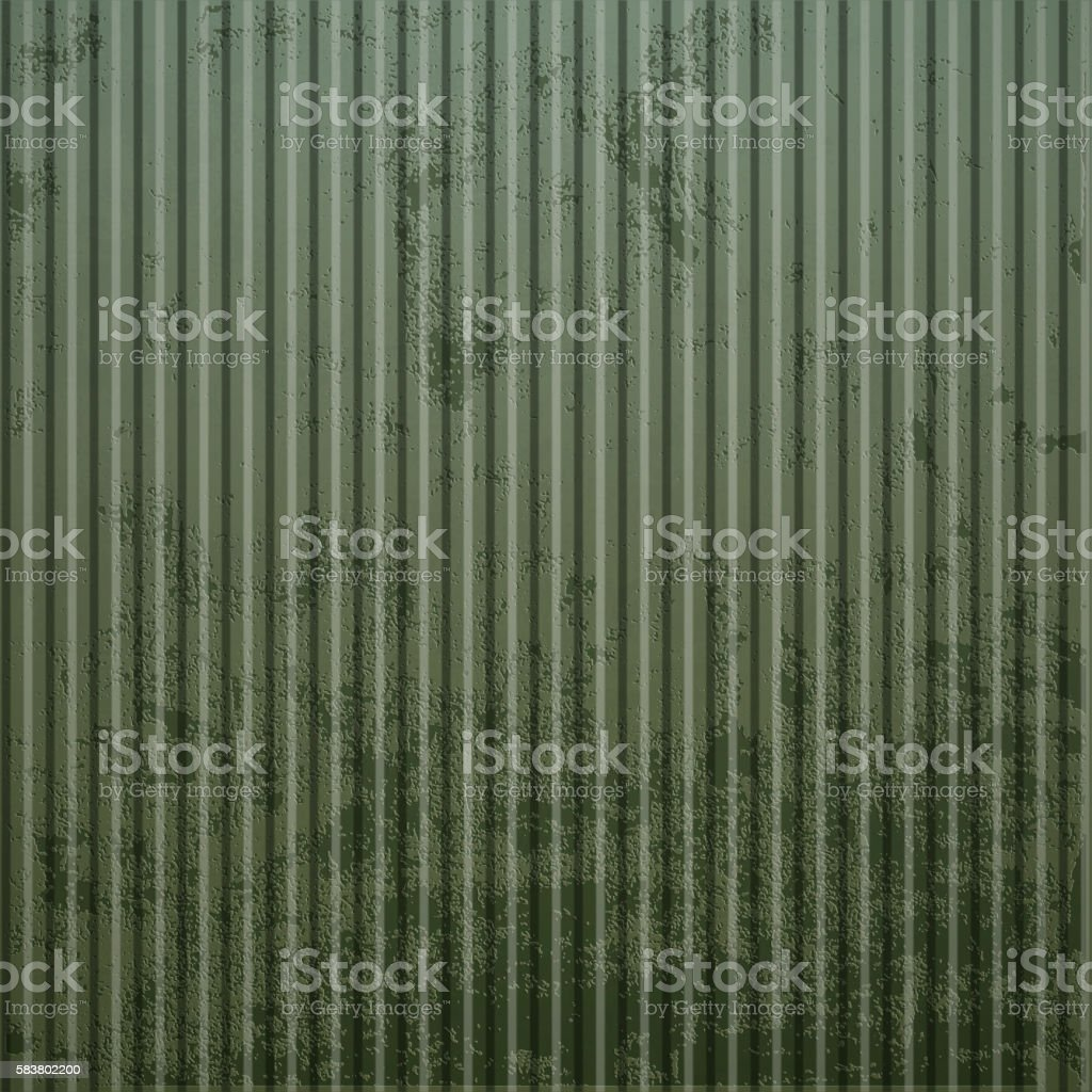 Texture of old rusty corrugated metal. Industrial background. vector art illustration