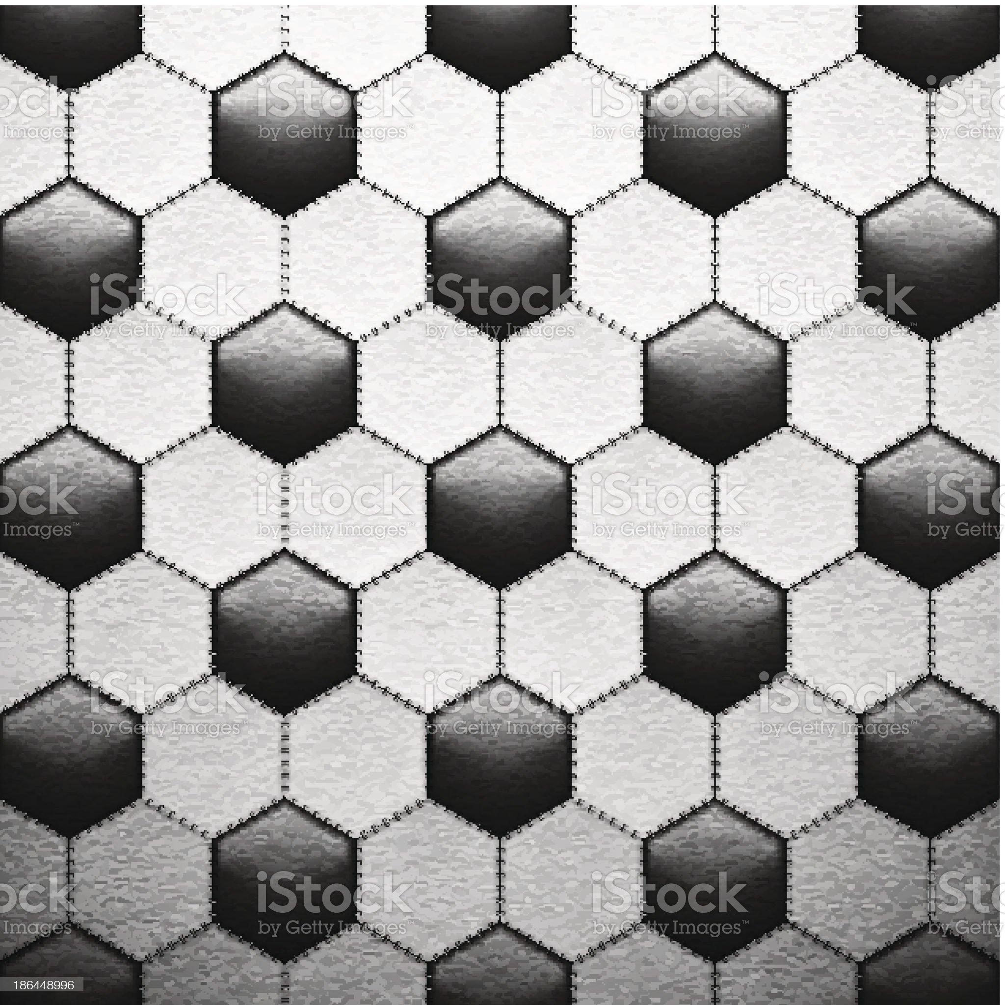 Texture of soccer ball royalty-free stock vector art