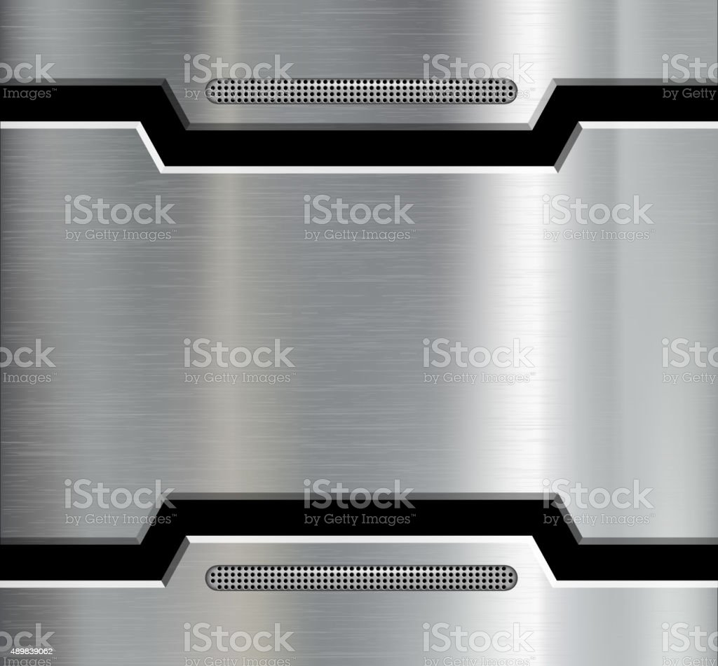 Texture of the metal plate. vector art illustration