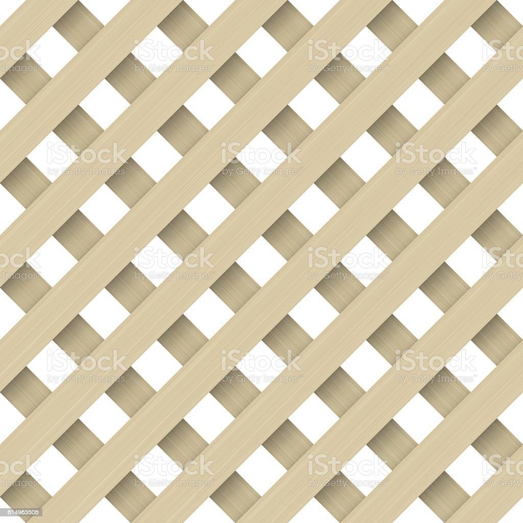 Texture of the wooden lattice vector art illustration