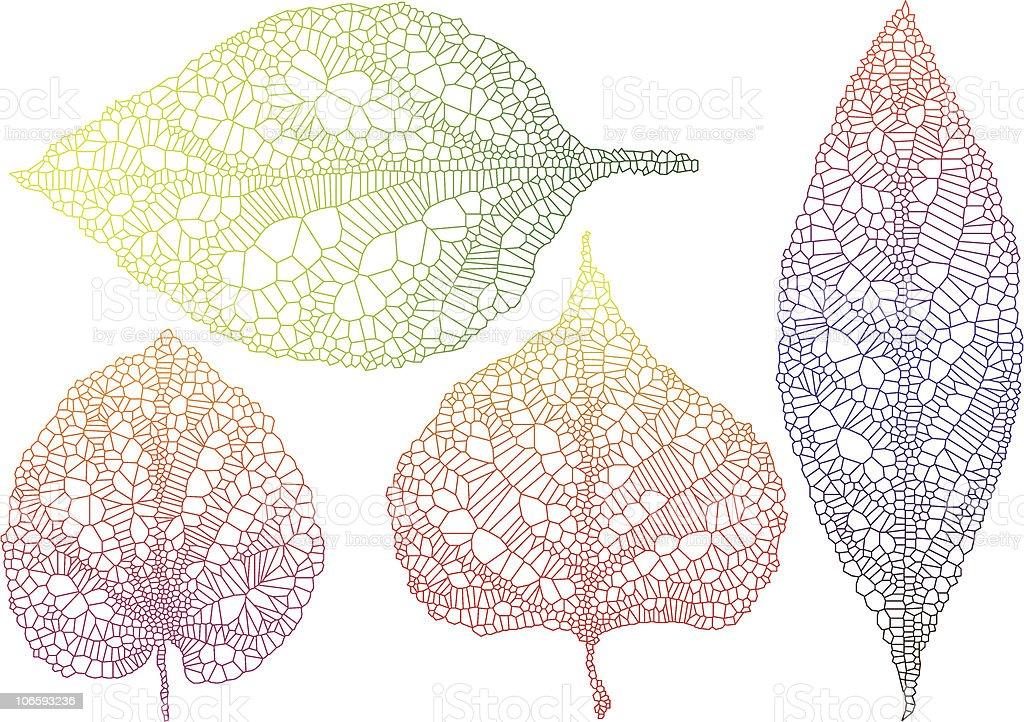 textured autumn leaves vector art illustration