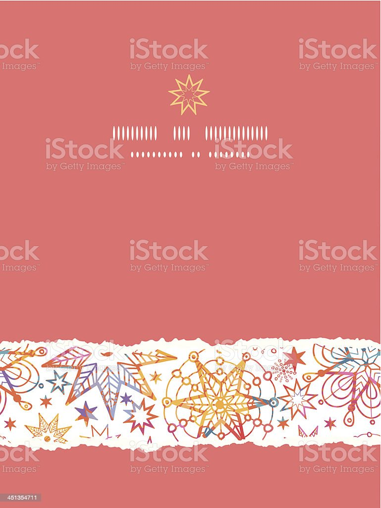 Textured Christmas Stars Vertical Torn Seamless Pattern Background royalty-free stock vector art