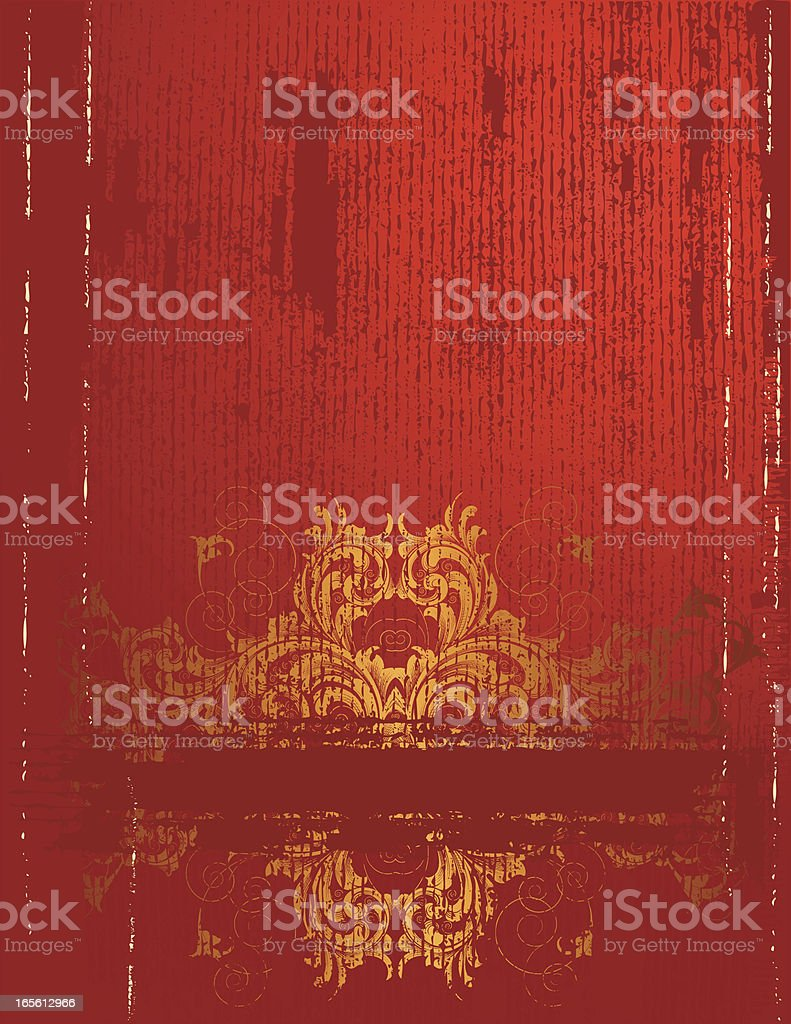 Textured Gold and Red Page royalty-free stock vector art