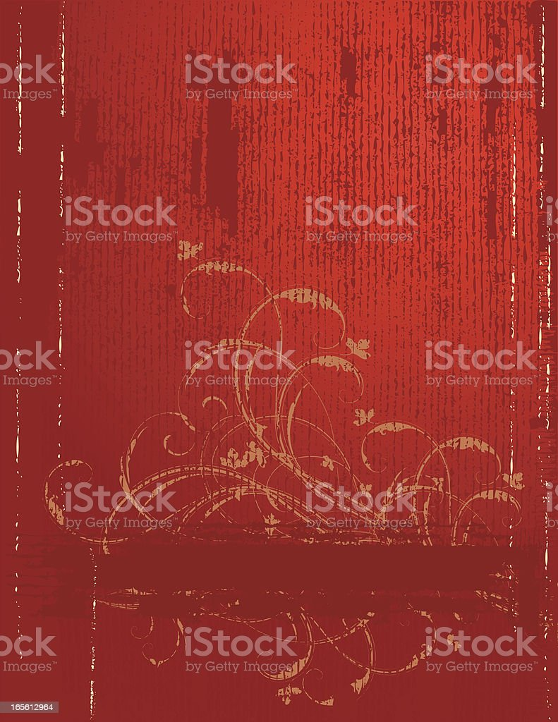 Textured Golden Scroll Page royalty-free stock vector art