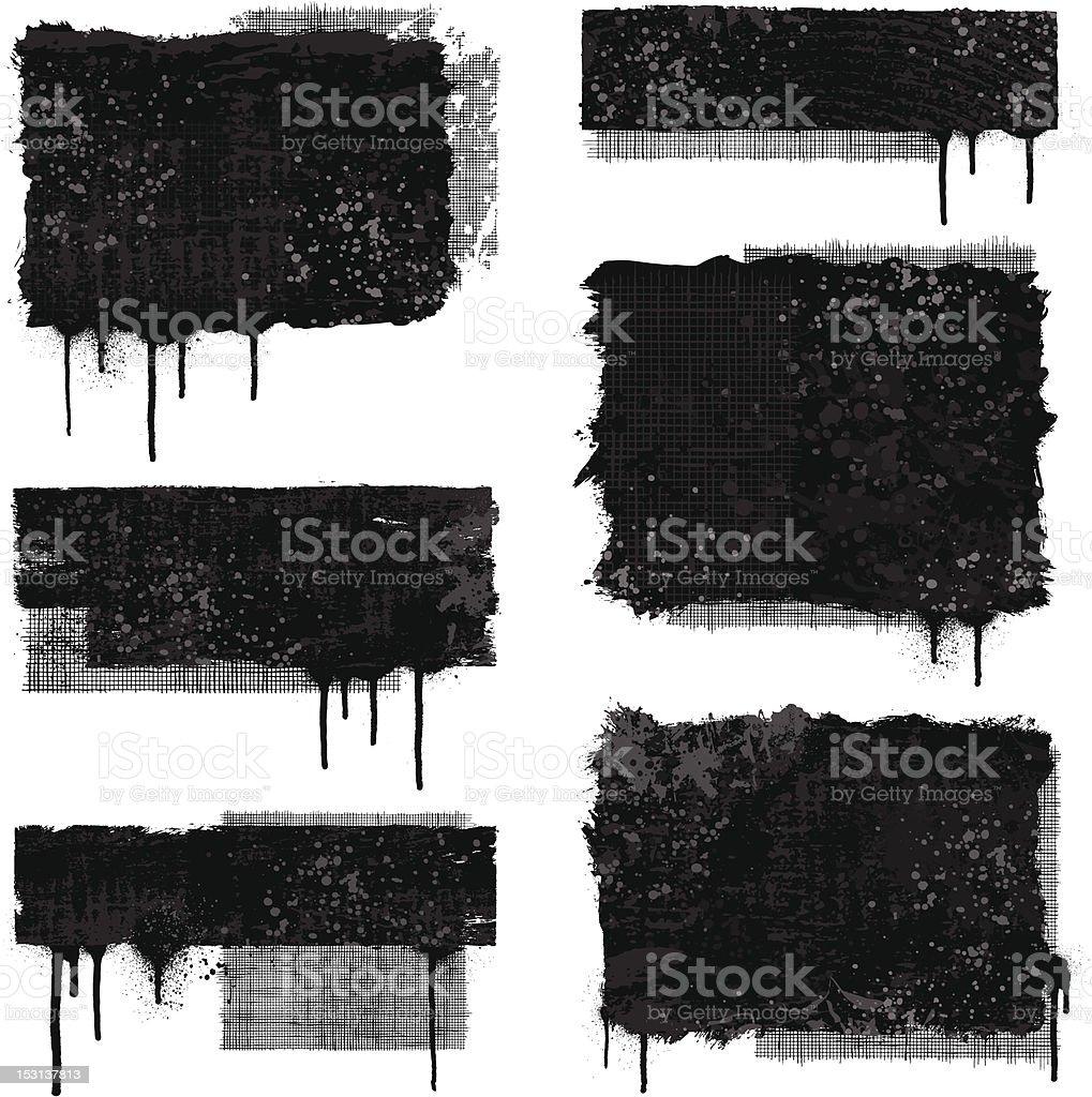 Textured grunge banners vector art illustration