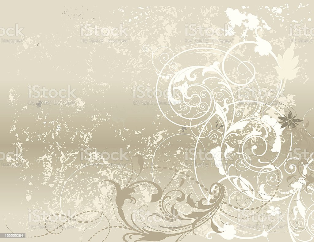 Textured Scroll Background royalty-free stock vector art