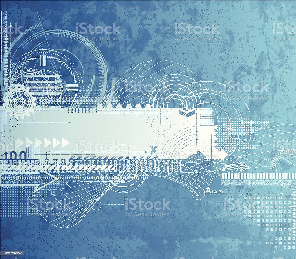Textured Technical Drawing royalty-free stock vector art