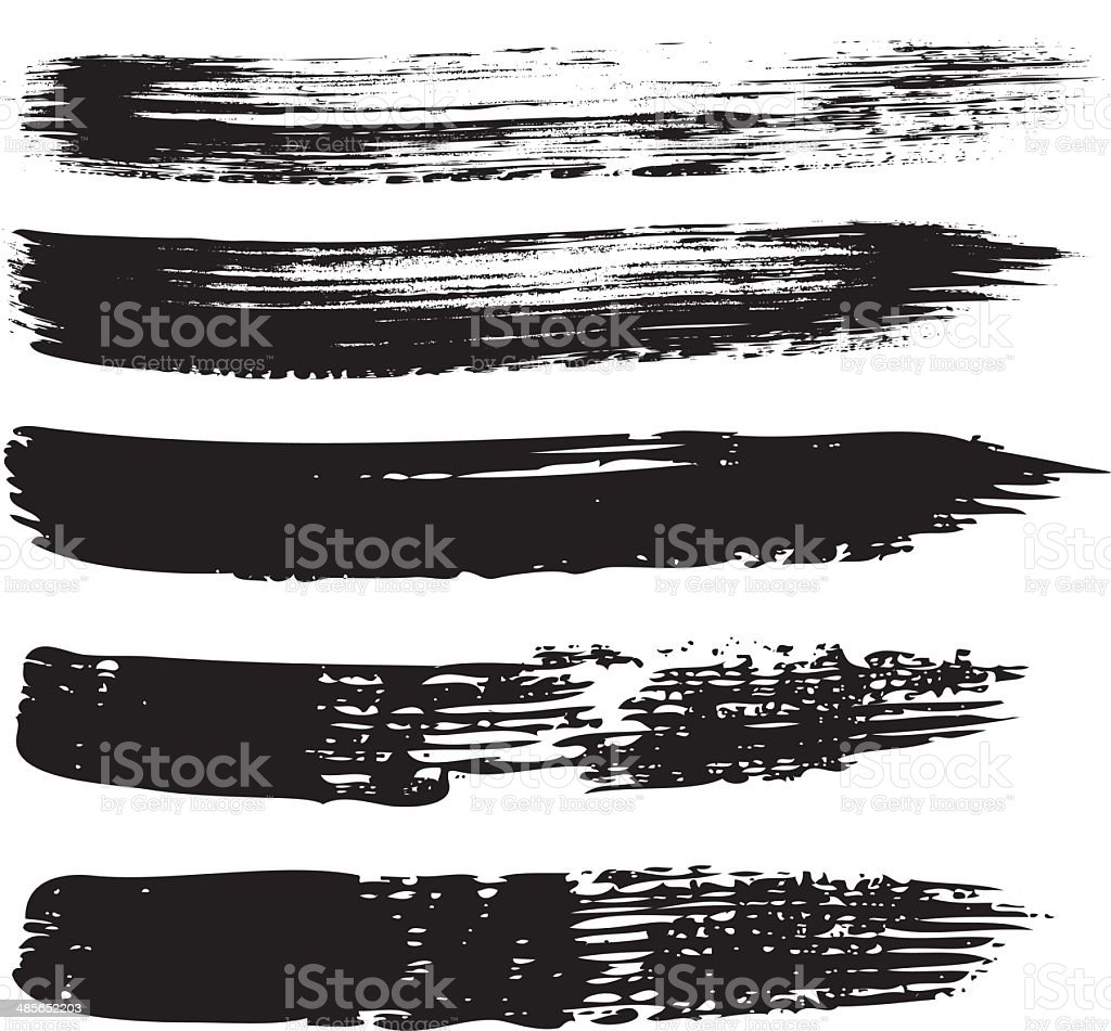 Textured Vector Brushes vector art illustration
