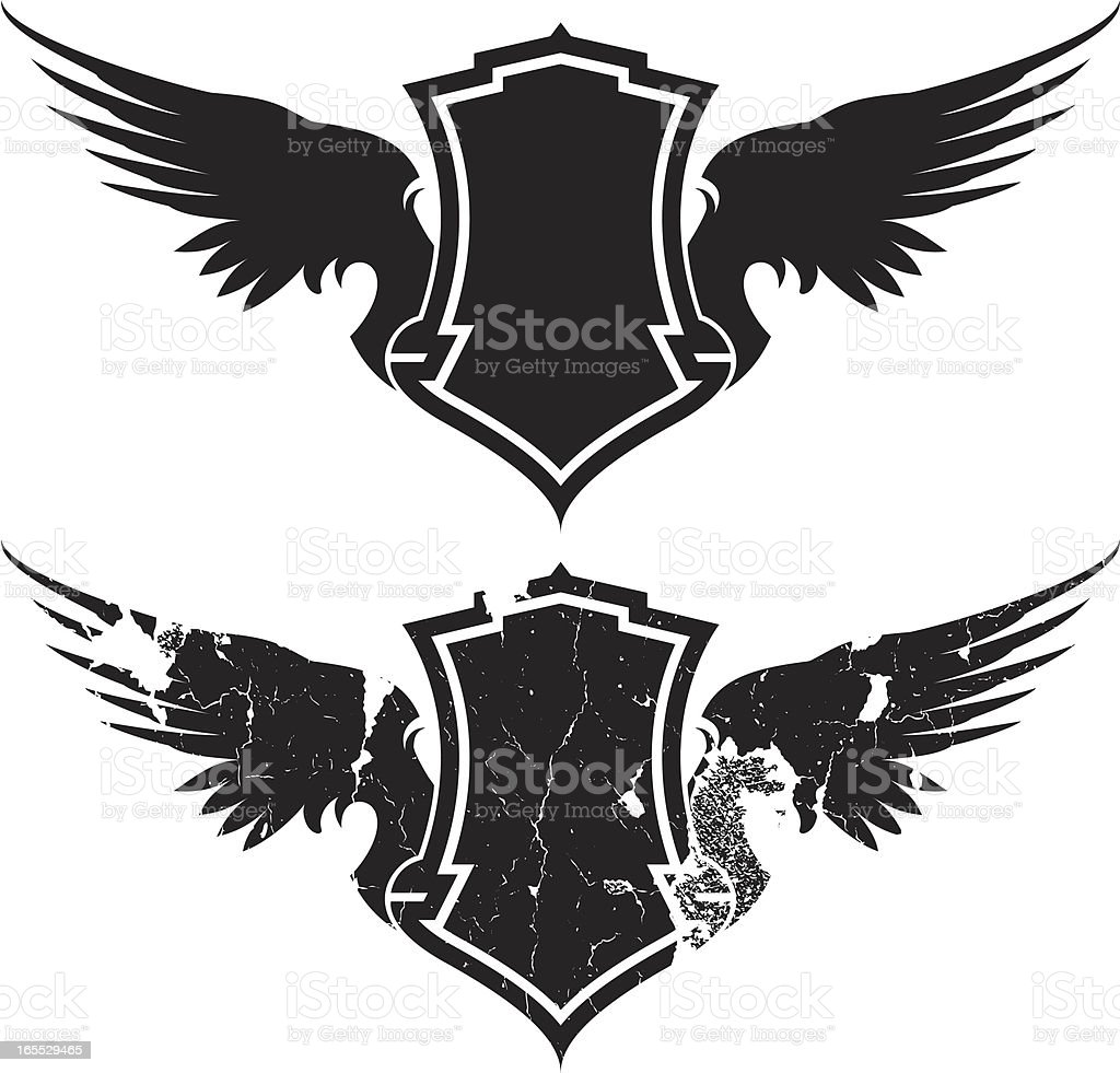 textured wings royalty-free stock vector art