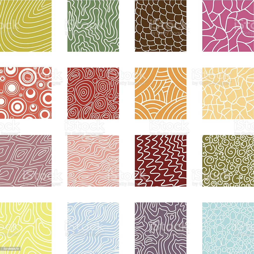 Textures collection vector art illustration