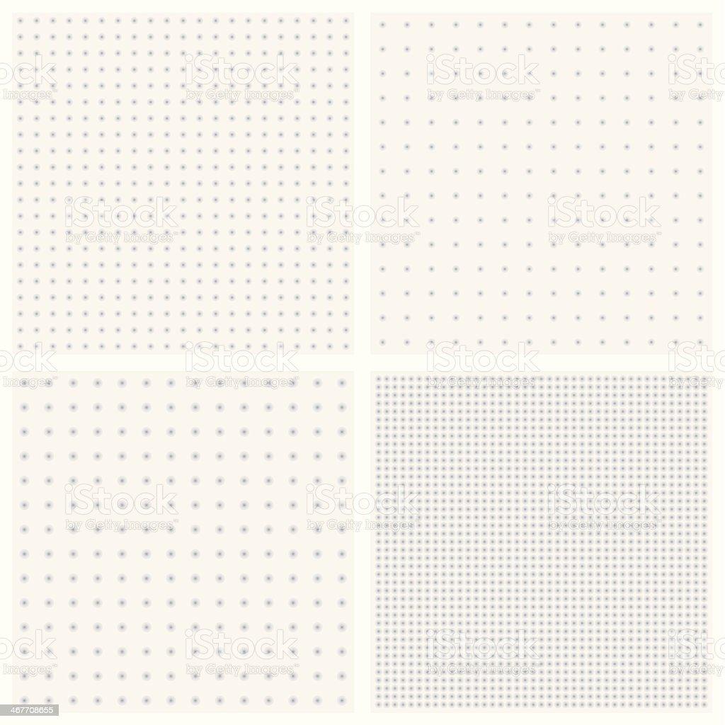 Textures of blurred gray dots vector art illustration