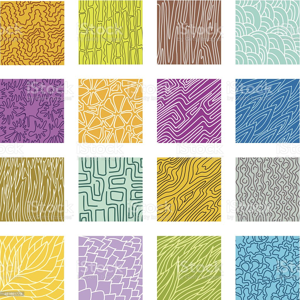 Textures set vector art illustration