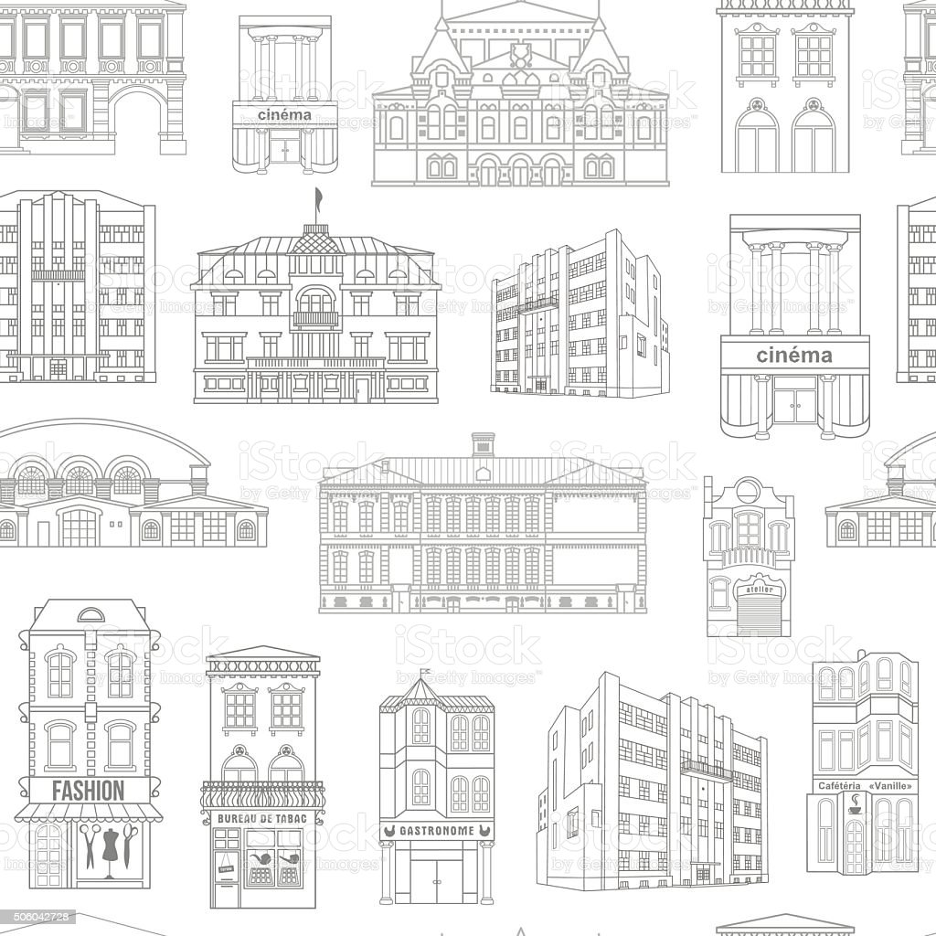 textures_objects of urban space vector art illustration