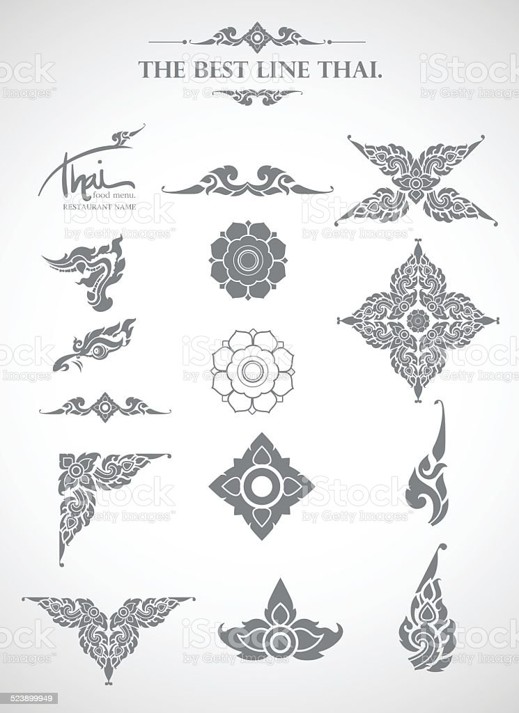 Thai art style vector - Illustration vector art illustration
