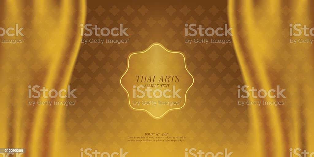 Thai Art vector background. vector art illustration