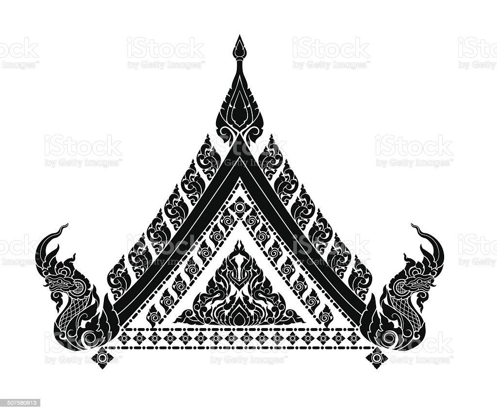 Thai arts interior vector art illustration