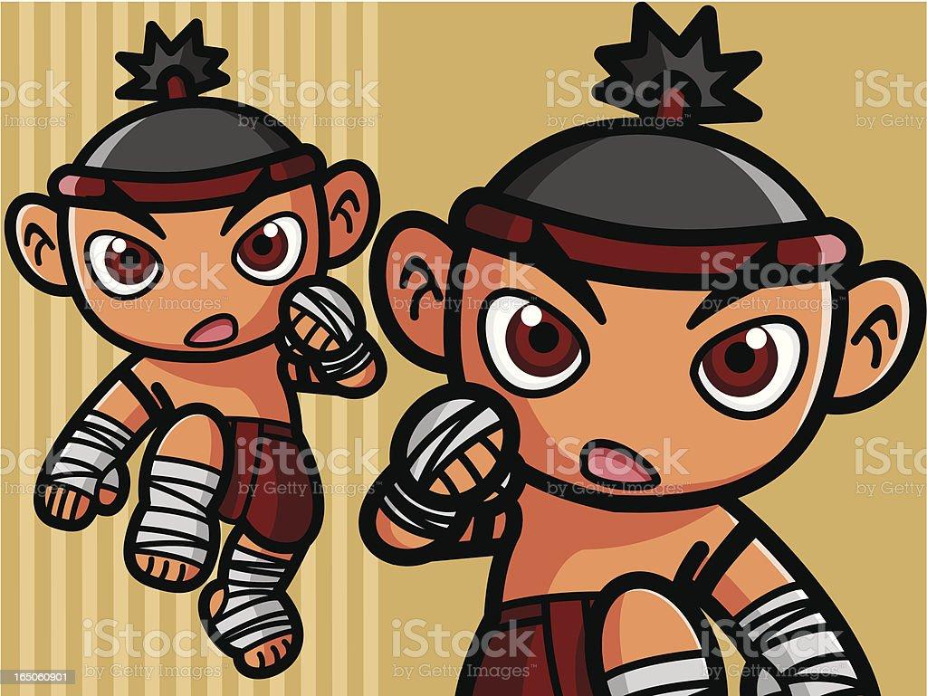 Thai Boxing royalty-free stock vector art