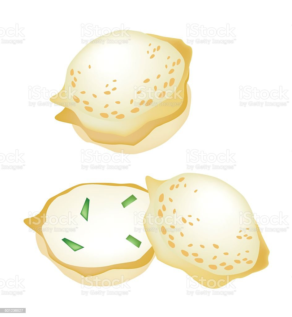 Thai Coconut Rice Cake on A White Background royalty-free stock vector art