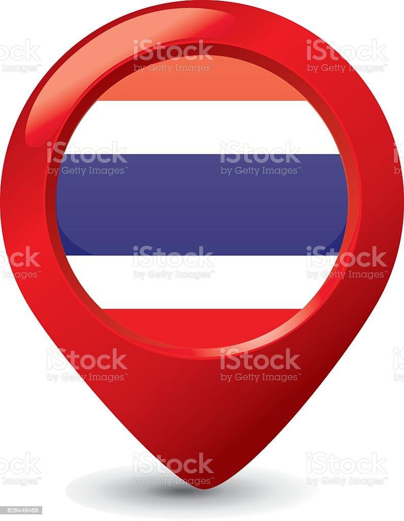 Thai Flag vector art illustration