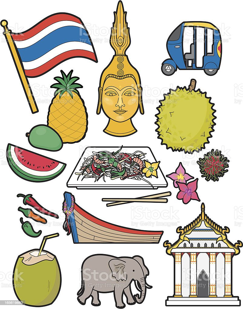 Thai food and culture royalty-free stock vector art