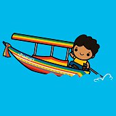 Thai longtail boat Driver