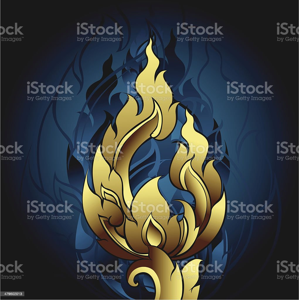 Thai Ornament Graphic royalty-free stock vector art
