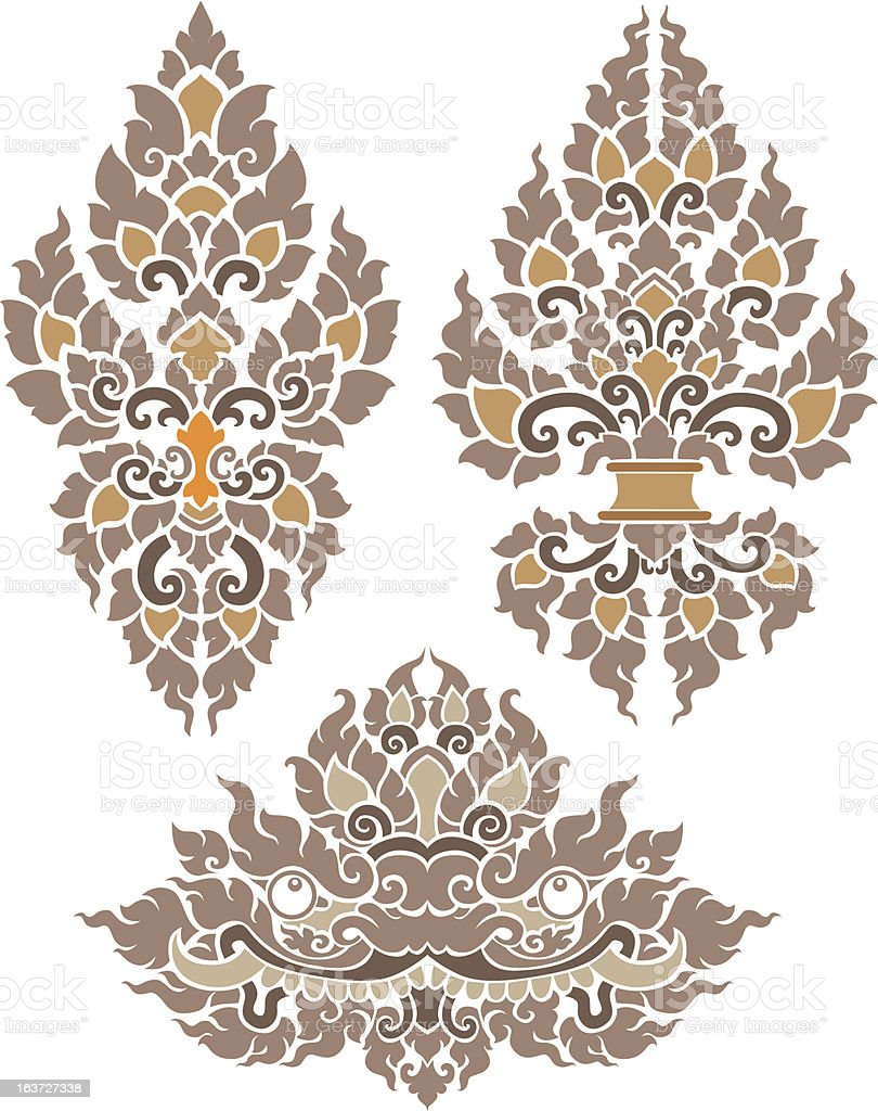 Thai Pattern royalty-free stock vector art