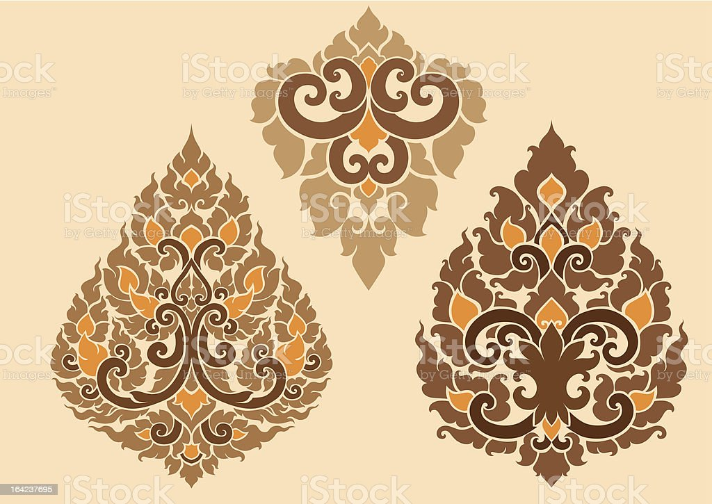 Thai Pattern royalty-free stock vector art