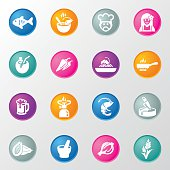 Thai restaurants Circle Color Icons