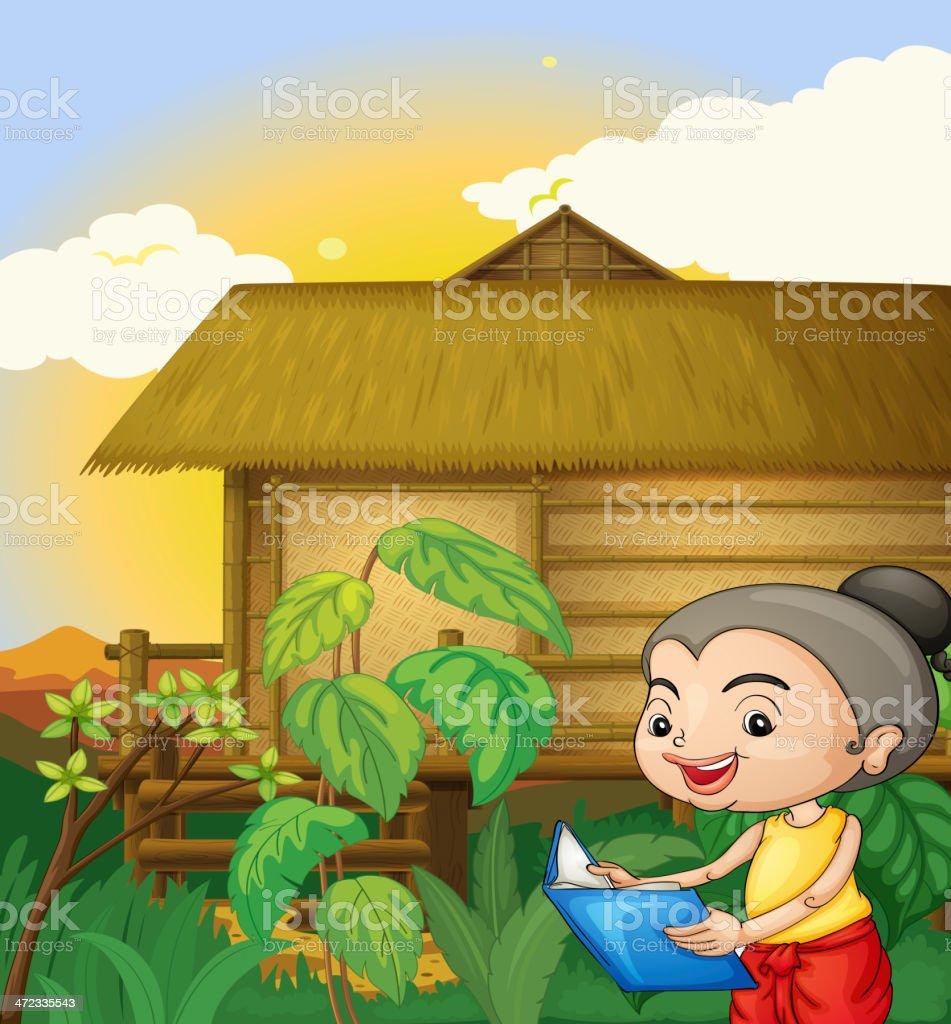 Thai scene royalty-free stock vector art