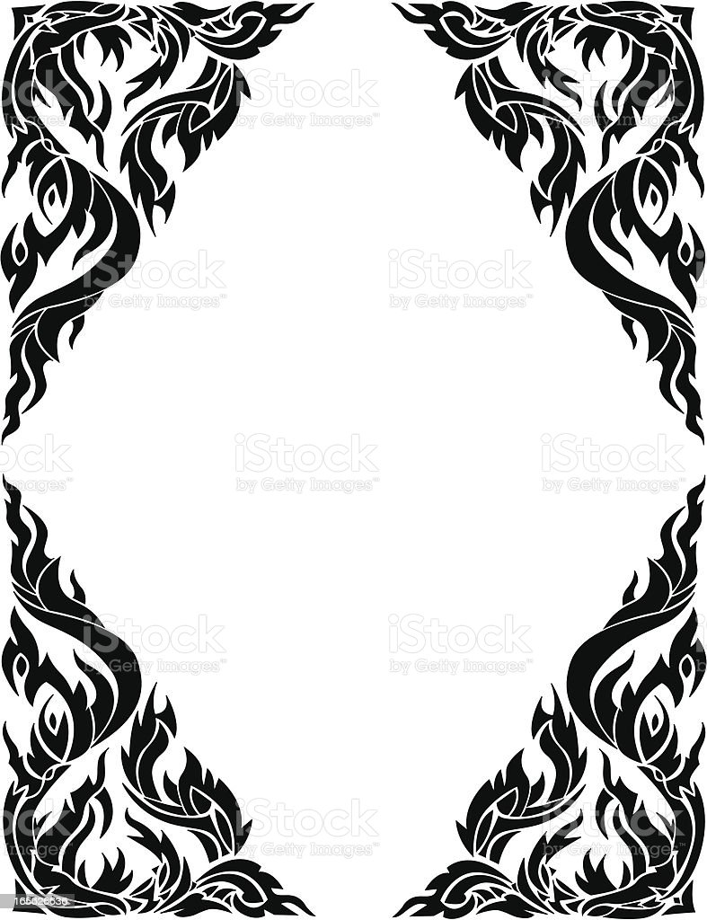 thai style frame border royalty-free stock vector art