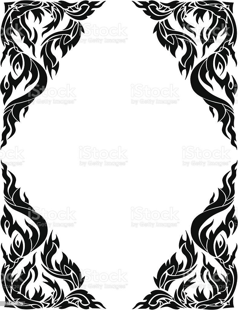 thai style frame border vector art illustration