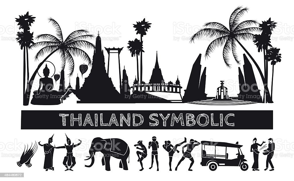 Thai symbolic icon. vector art illustration