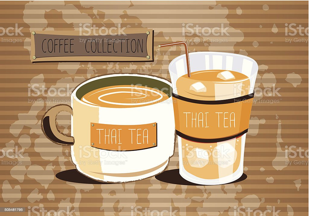 Thai Tea vector art illustration