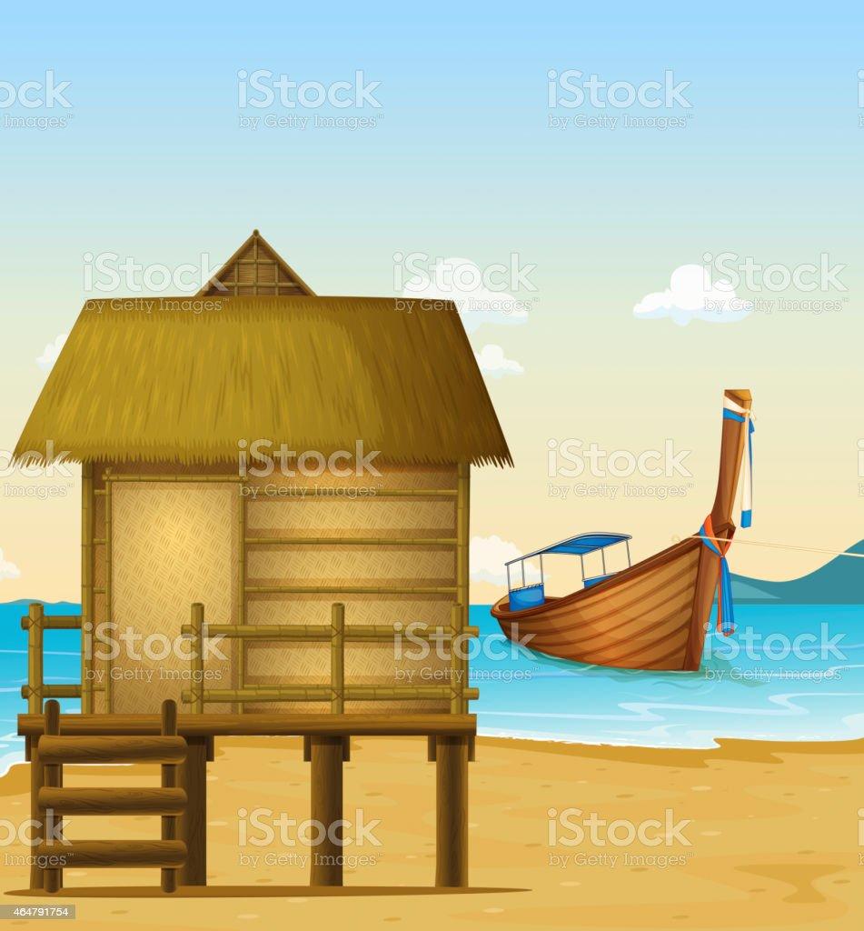 Thailand beach vector art illustration