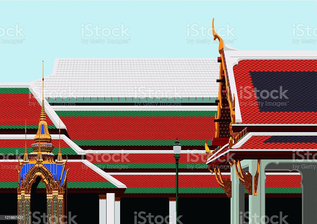 Thailand Building royalty-free stock vector art