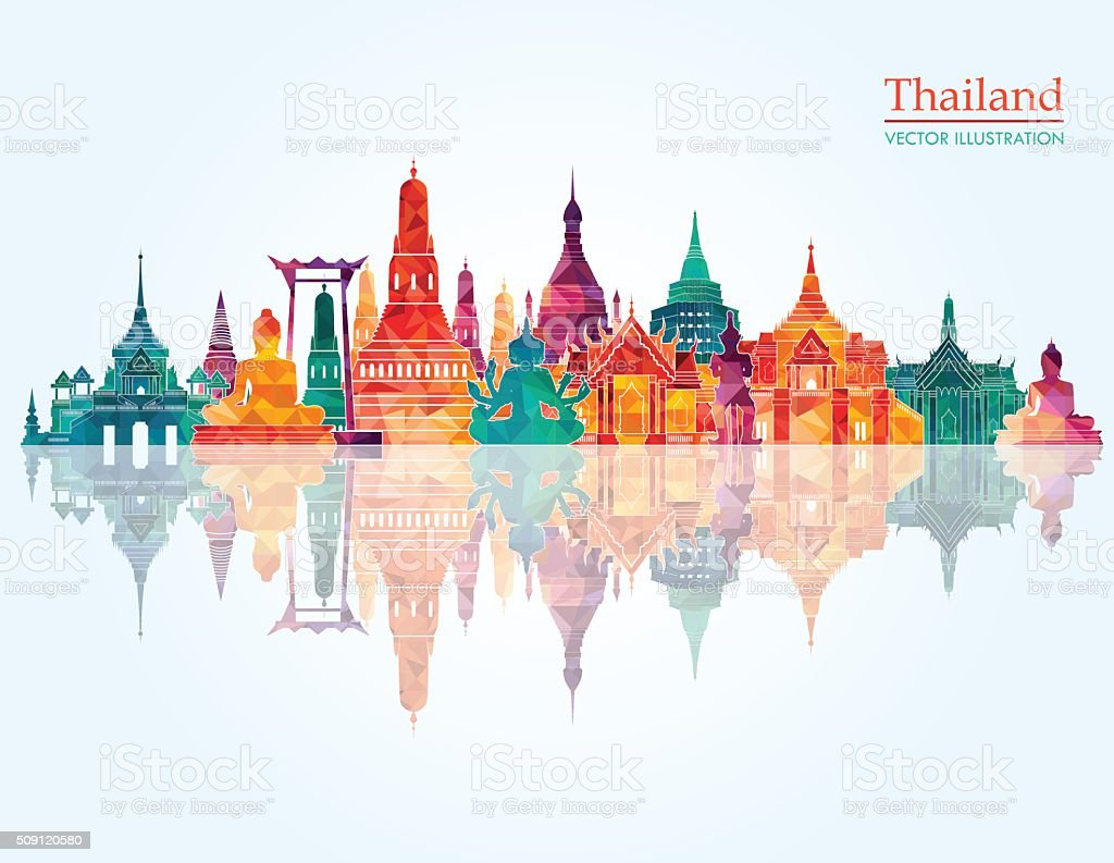 Thailand detailed skyline. Vector illustration vector art illustration