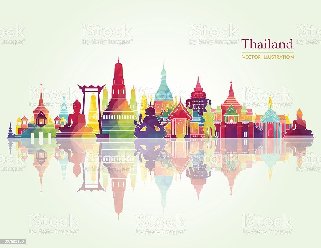 Thailand detailed skyline. Vector illustration vector art illustration