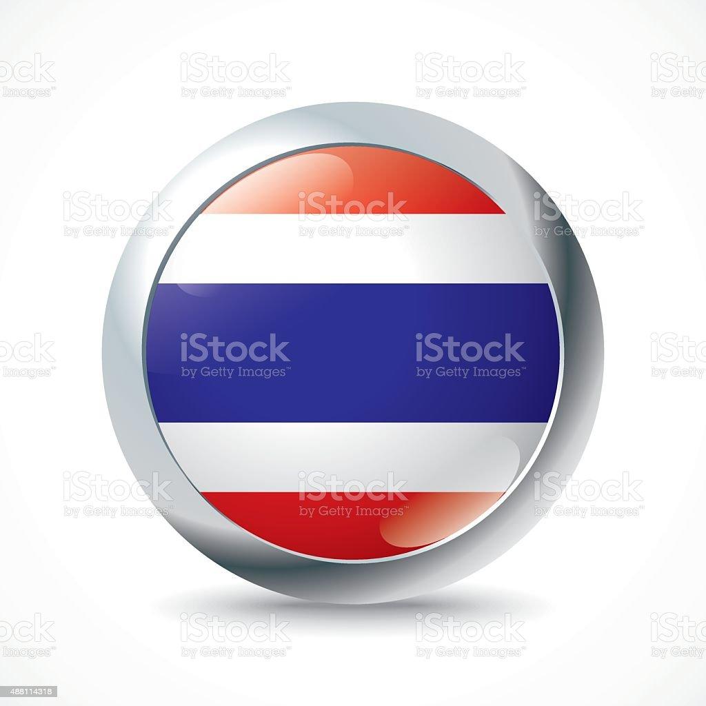 Thailand flag button vector art illustration