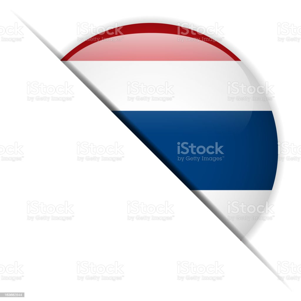 Thailand Flag Glossy Button Hidden royalty-free stock vector art