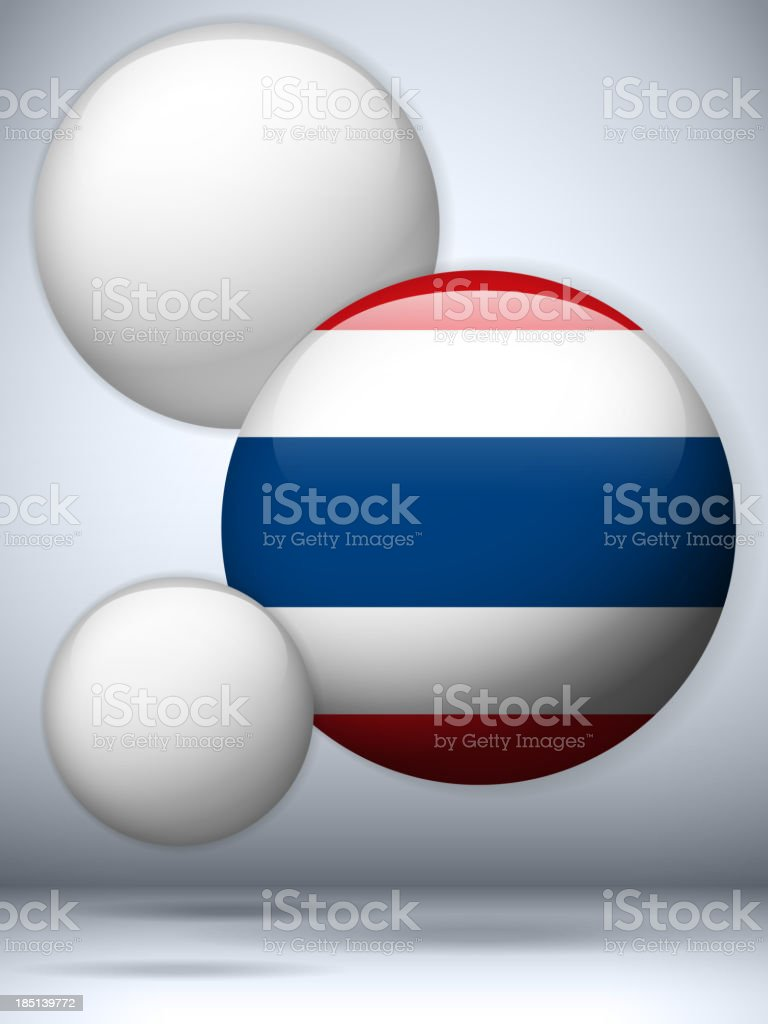 Thailand Flag Glossy Button royalty-free stock vector art